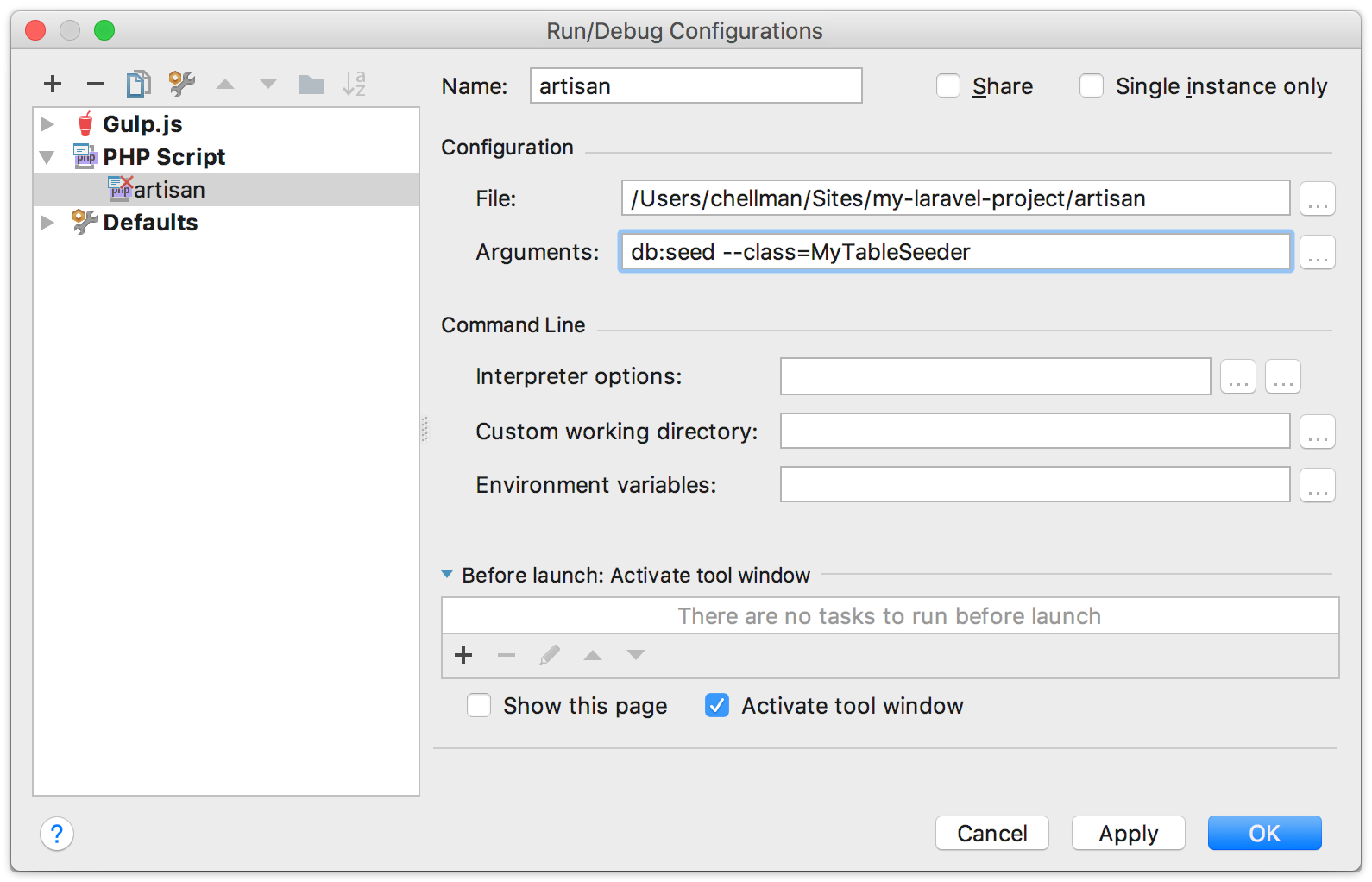 Configuring PhpStorm to debugging command line PHP scripts